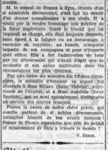 Article sur Soeur Therese
