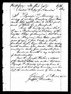 Polycarpe Micridis demande son passeport americain
